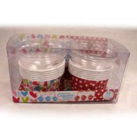See more information about the 12 Large Round Curled Cupcake Cases with Lid