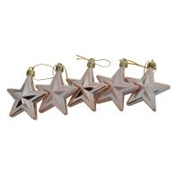 See more information about the 5 Pack Christmas Tree Baubles 6cm Rose Gold