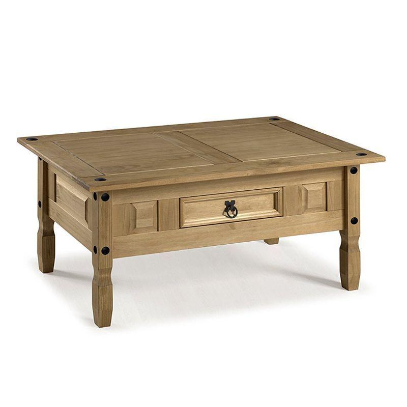 Corona Distressed Waxed Pine Coffee Table Furniture  sc 1 st  QD Stores & Corona Distressed Waxed Pine Coffee Table Furniture - Buy Online at ...