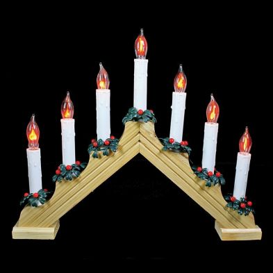 Flicker Candle bridge Festive Lights (7 Bulbs)