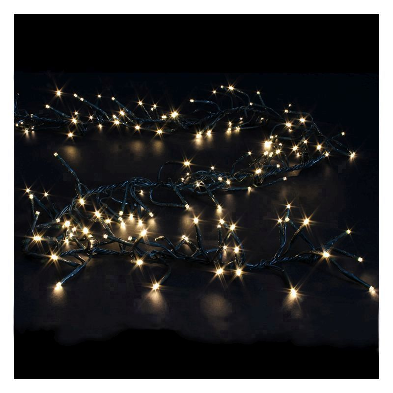 480 LED Warm White Outdoor Cluster Christmas Lights