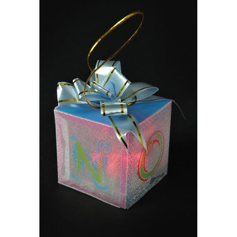 PVC Gift Box With Colour Changing LED 5cm