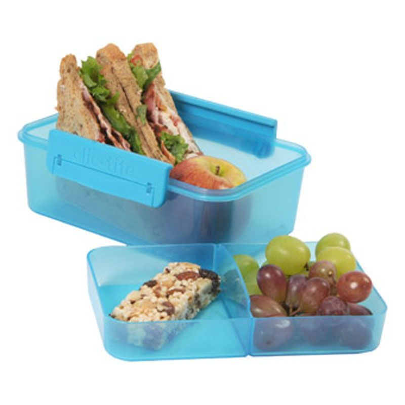 Turquoise Clic Tite 1100ml Double Decker Lunchbox