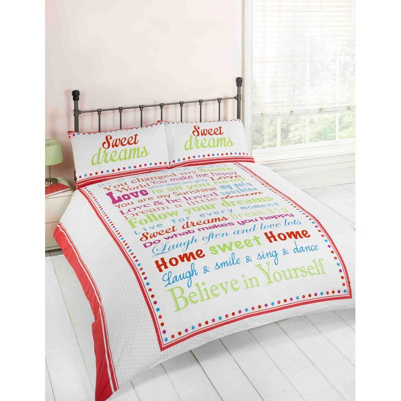 Red & Green Sweet Dreams King Duvet Set