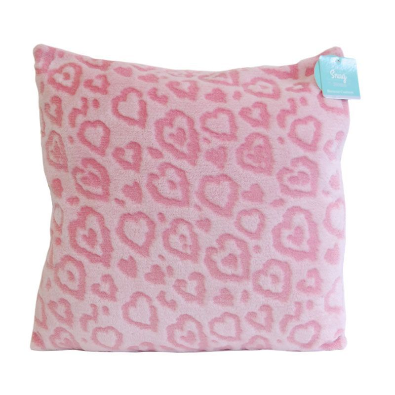 Pink Heart Burnout Cushion
