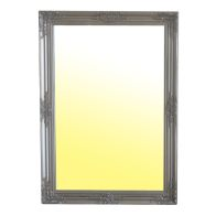 See more information about the Wooden Frame Baroque Mirror in Silver (74 x 104cm)