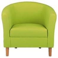See more information about the Lime Faux Leather Tub Chair - Nicole