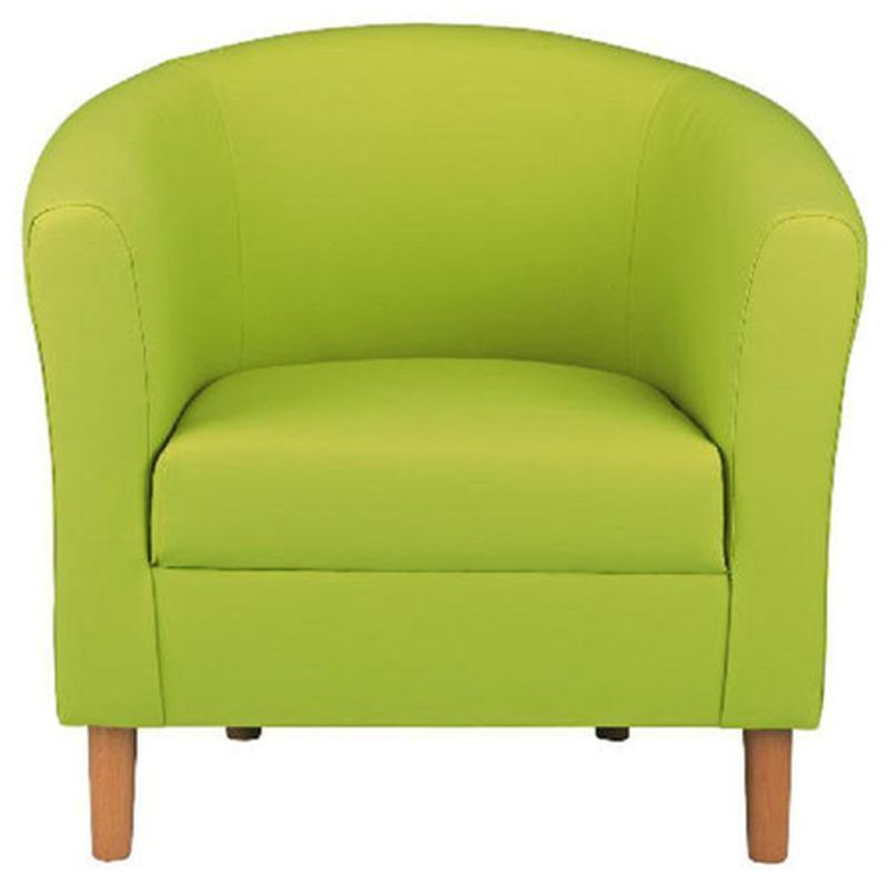 Lime Faux Leather Tub Chair - Nicole