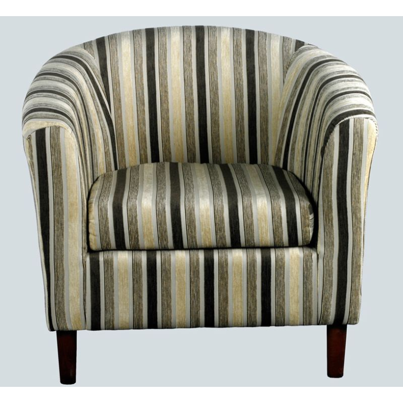 Chocolate Stripe Tub Chair - April - Buy Online at QD Stores