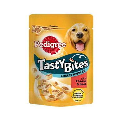 Pets Pedigree Tasty Minis Dog Treats Cheese & Beef 140g
