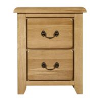 See more information about the Oakham Oak Double Drawer Oakham Bedside Table