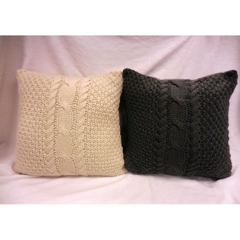 Cable Knit Sofa Cushion (2 for £10)