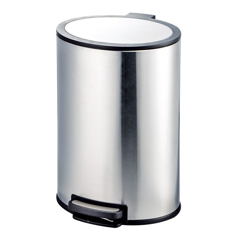 40 Litre Stainless Steel Oval Pedal Bin