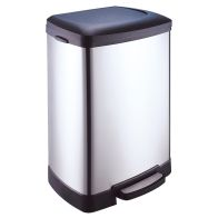 See more information about the 50 Litre Stainless Steel Step Bin With Slow Close Lid