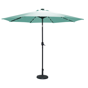See more information about the Torbay Teal Umbrella (2.7m) - with Solar Lights