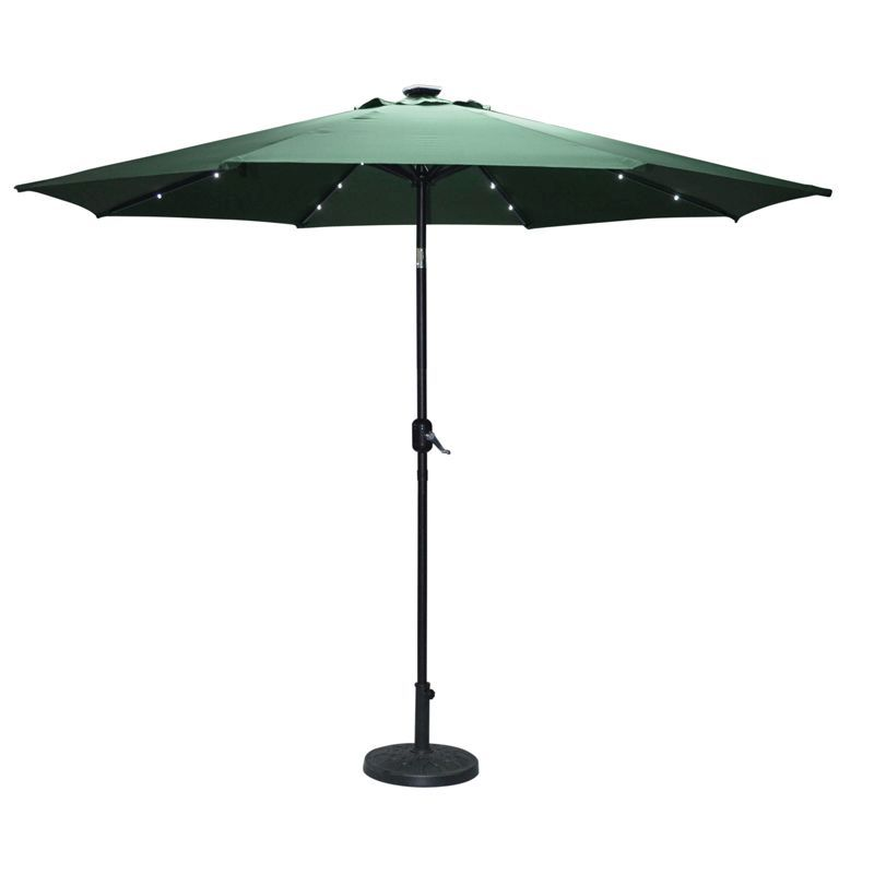Lightup 2.7m Parasol Dark Green
