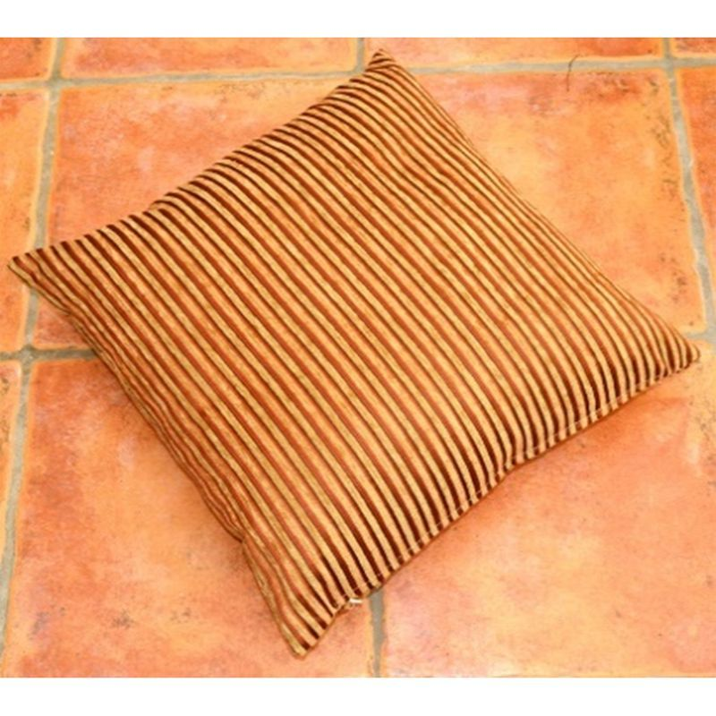 Caramel Stripe Sofa Cushion (2 for £10)
