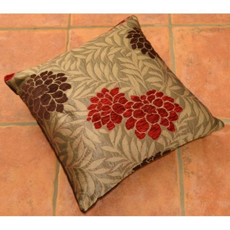 Red Chocolate Malham Flower Sofa Cushion (2 for £10)