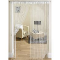 See more information about the White & Silver String Door Curtain 90 x 200cm