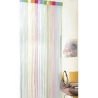 See more information about the Multi-Colour & Silver String Door Curtain 90 x 200cm