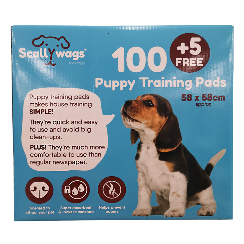Puppy Training Pad 100 Pack + 5 Free
