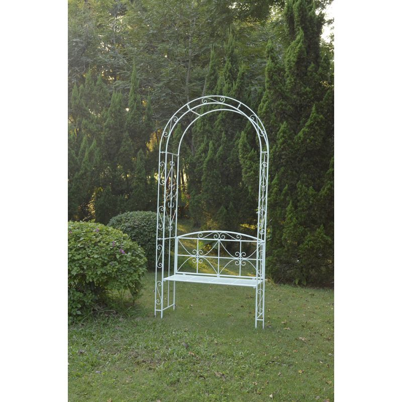 Country Cream Garden Arch Bench Buy Online At Qd Stores