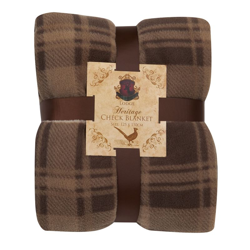 Heritage Check Blanket (125 x 150) - Brown