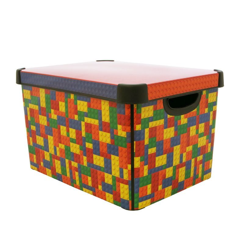 22l Curver Bright Blocks Storage Box Buy Online At Qd Stores