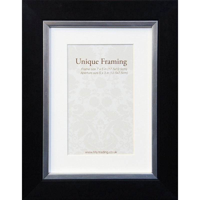 "Black Contemporary Edge Photo Frame (7"" x 5"")"