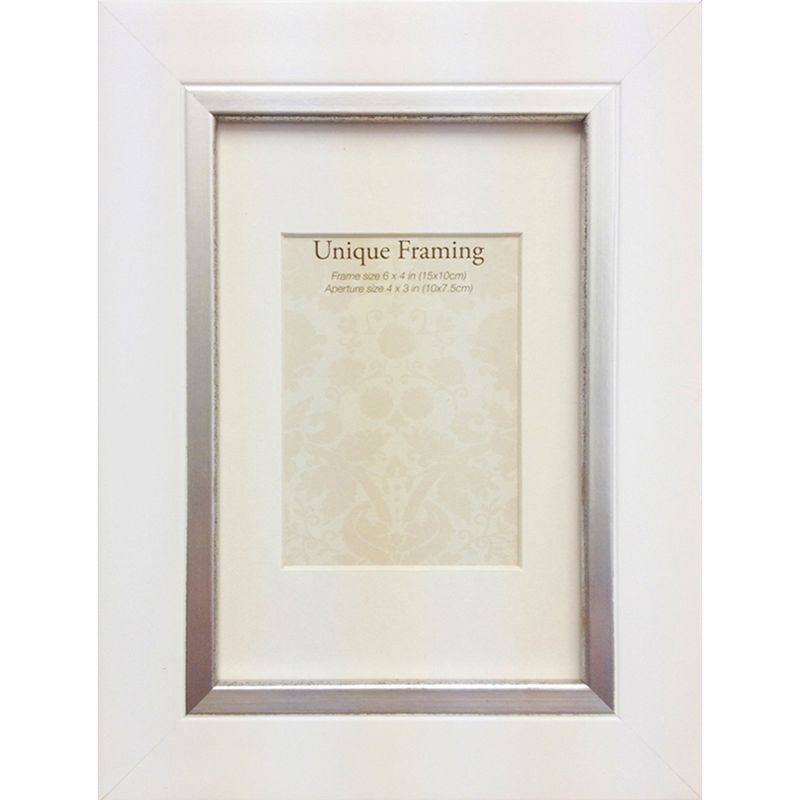 "Unique Framing White Contemporary Edge Photo Frame (6"" x 4"")"