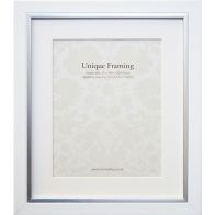 "See more information about the White Contemporary Edge Photo Frame (12"" x 10"")"