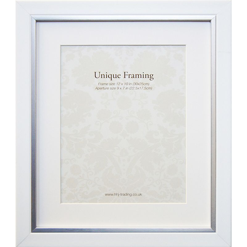 "White Contemporary Edge Photo Frame (12"" x 10"")"