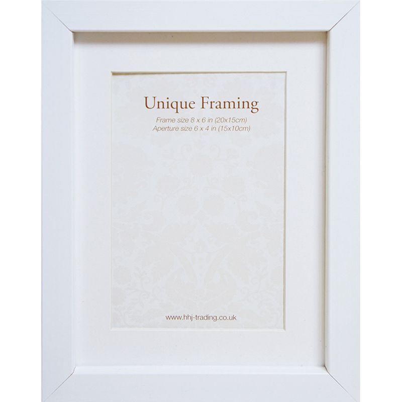 "Unique Framing White Photo Frame (8"" x 6"")"