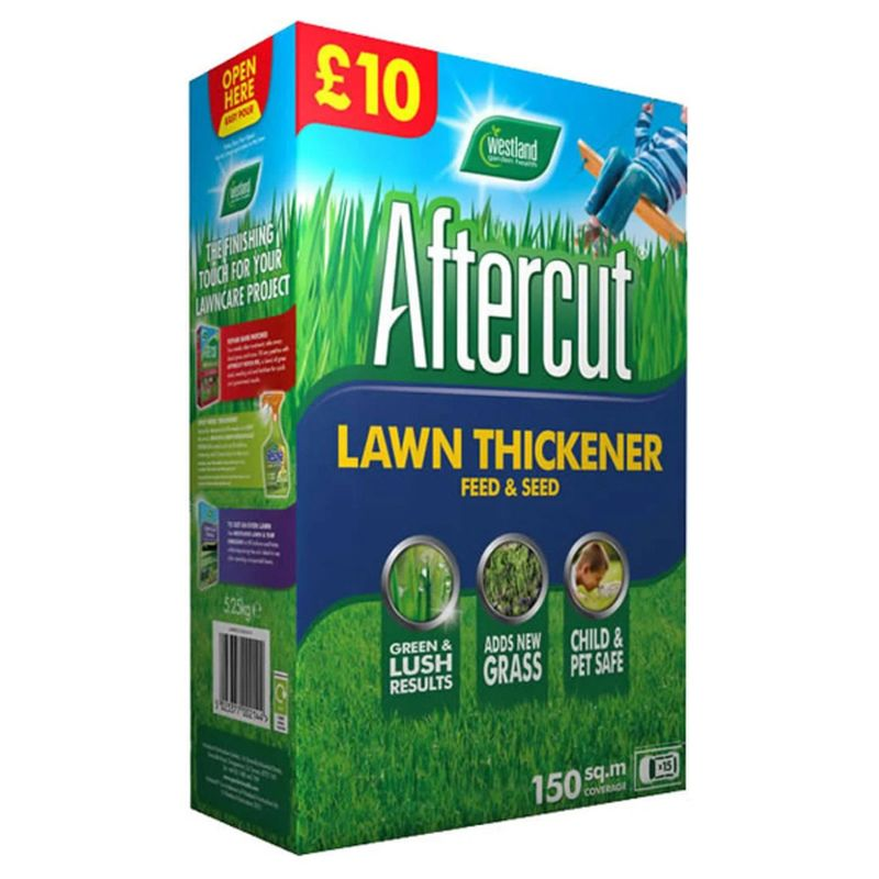 Aftercut Lawn Thickener Feed and Seed 150sqm