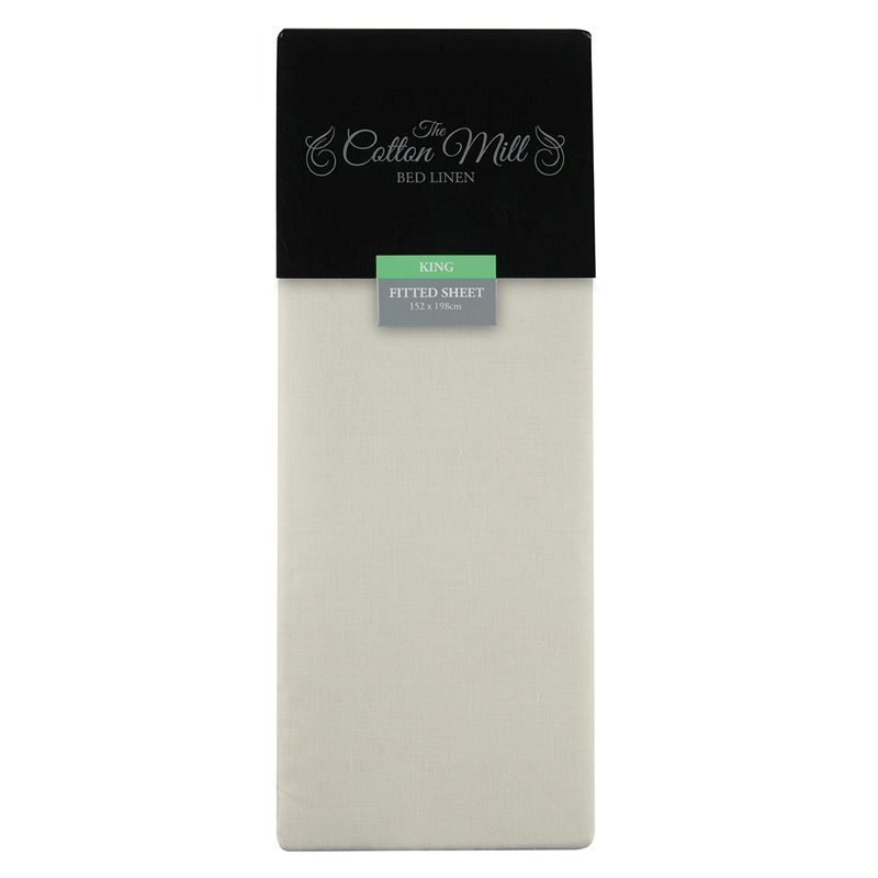 Cream King Poly Cotton Fitted Sheet
