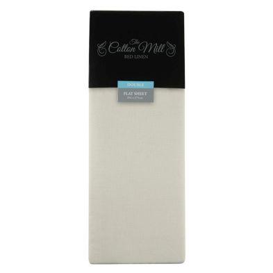 Cotton Mill Cream Double Poly Cotton Flat Sheet
