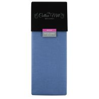 See more information about the Cotton Mill Blue Single Poly Cotton Fitted Sheet