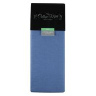 See more information about the Cotton Mill Blue King Poly Cotton Fitted Sheet
