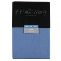 See more information about the Cotton Mill Blue 2 Pack Pillow Case