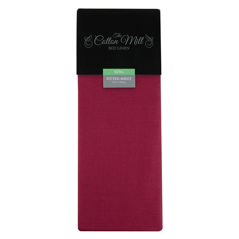 Raspberry King Poly Cotton Fitted Sheet