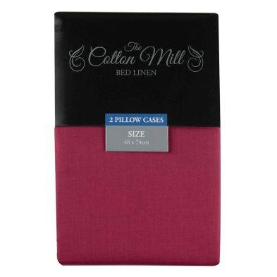 Cotton Mill Raspberry 2 Pack Pillow Case