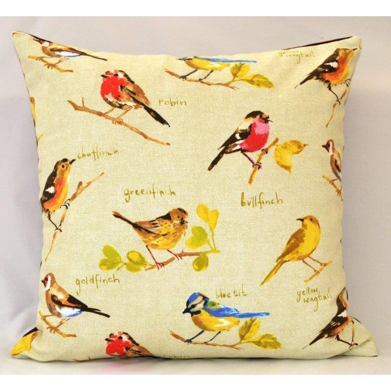 Garden Birds Feather Cushion (45 x 45cm)