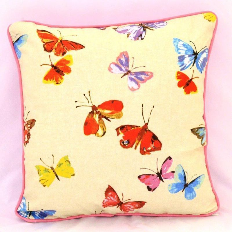 Butterflies Feather Cushion (45 x 45cm)