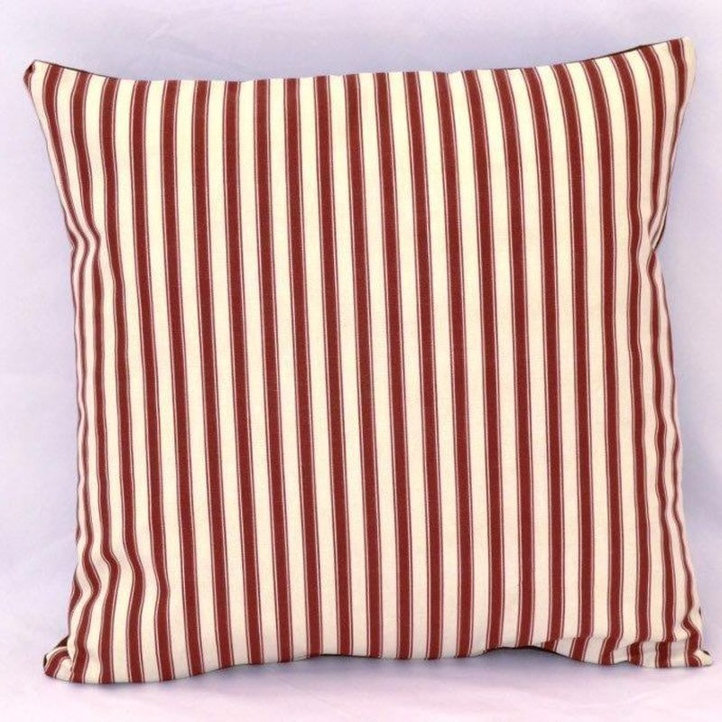 Cranberry Stripe Cushion (60 x 60cm)