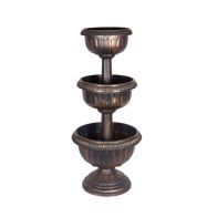 See more information about the Triple Urn 3 Tier Bronze Effect Planter