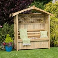 See more information about the Hampshire Garden Arbour with Storage Box