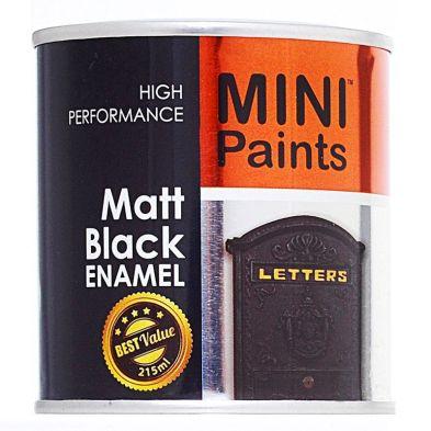 Painting & Decorating Mini Paints Matt Enamel 215ml - Black