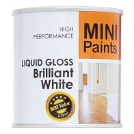 See more information about the Mini Paints Liquid Gloss Paint 215ml - Brilliant White