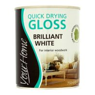 See more information about the Your Home Quick Dry Gloss Paint 750ml - Brilliant White
