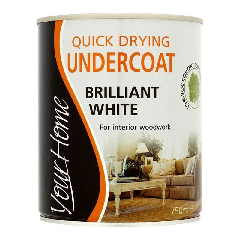 Your Home Quick Dry Undercoat Paint 750ml - Brilliant White